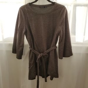 Gray Upcountry Wrap Sweater Charcoal